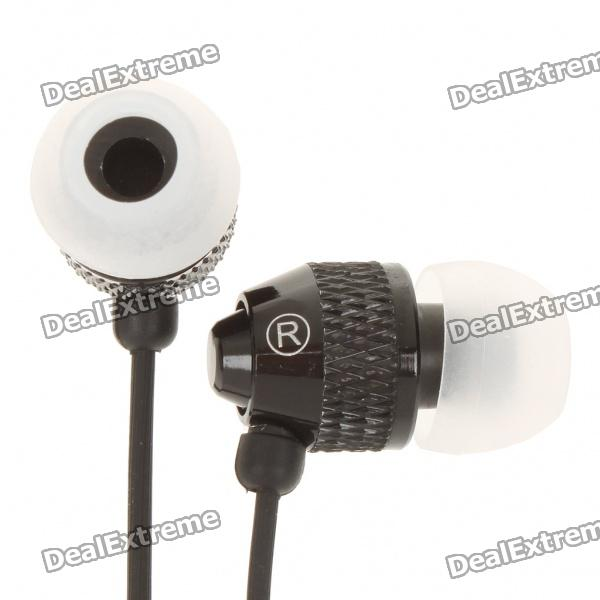 Stilvolles In-Ear-Ohrhörer w / Mikrofon / Volume Control für iPhone - Schwarz (3.5mm Jack/120cm-Cable)