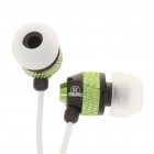 Stilvolle Ohrhörer w / Mikrofon / Volume Control In-Ear für Iphone - Grün (3,5 mm Klinke / 120cm-Kabel)