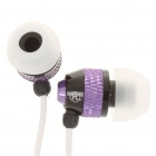 Stylish In-Ear Earphone w/ Microphone/Volume Control for Iphone - Purple (3.5mm Jack/120cm-Cable)