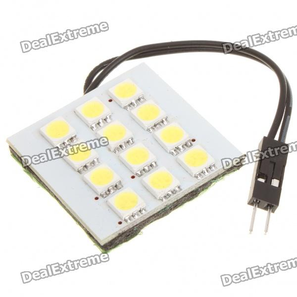 1.0W 6500K 95-Lumen 12-5050 SMD LED White Light Car Bulb w / T10/SV85/BA9S Anschlüsse (DC 12V)
