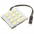 1.0W 6500K 95-Lumen 12-5050 SMD LED White Light Car Bulb w/ T10/SV85/BA9S Connectors (DC 12V)