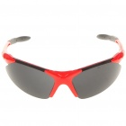 Cool Sports UV Protection Plastic Frame PC Lens Sunglasses w/ Replacement Lens Set - Red