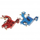 Dual Tattoo Machine Liner Shader Gun w/ Handles/Tips Nozzles/Pincushion + More Accessories Set
