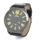 Fashion PU Leather + Stainless Steel Water Resistant Wrist Watch (1x377)