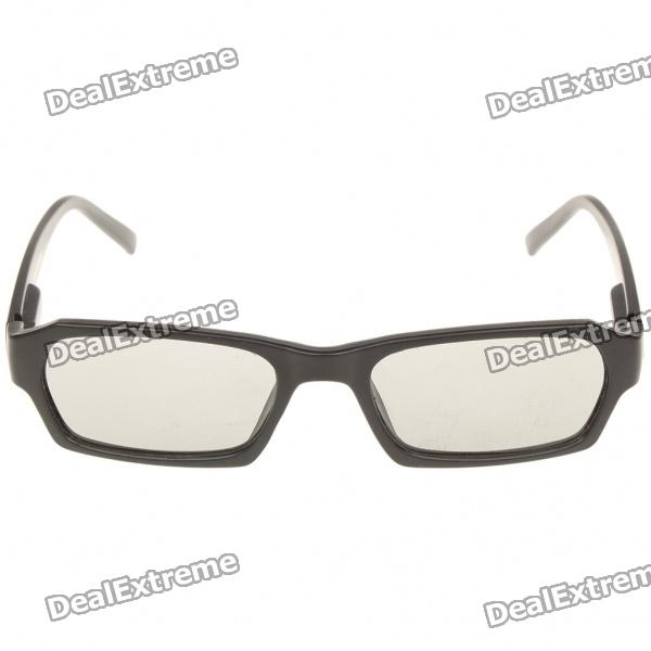 Stylish Non-Flash Circularly Polarized 3D Glasses - Black