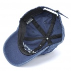 Worn Look Cotton Fabric Baseball Hat/Cap for Kids - Blue