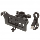 ABS Bicycle Swivel Mount Holder w/ USB Data/Charging Cable for HTC EVO 3D - Black