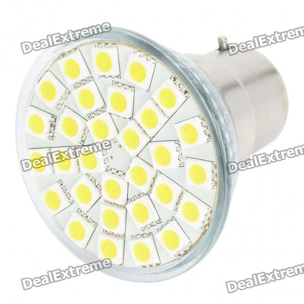 B22 5.5W 3500K 360-Lumen 30x5050 SMD LED Warm White Light Bulb (85~265V)