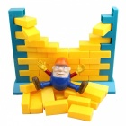 Funny Humpty Dumpty Figure Wall Pushing Bricks Game - Orange + Yellow
