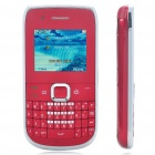 "E6-00 2.0"" LCD Qwerty Dual SIM Dual Network Standby Quadband GSM TV Cell Phone - Red"