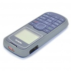 "Refurbished Nokia 1202 1.3"" LCD Screen Single Sim Dual Band Bar Phone - Grey + Blue"