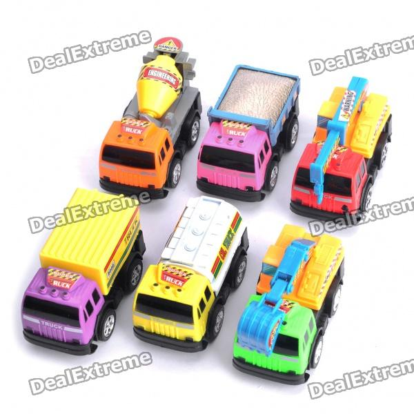 Stylish Engeering Truck Car Toys for Children - Colorful (6PCS/Set)