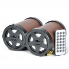 2x2.2W USB Rechargeable MP3 Music Player Speaker with FM/USB/SD/MMC