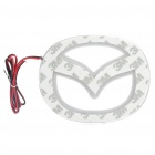 Auto Car Logo Badge Water Resistant PVC White Background Light Sticker for Mazda 6 (DC 12V)