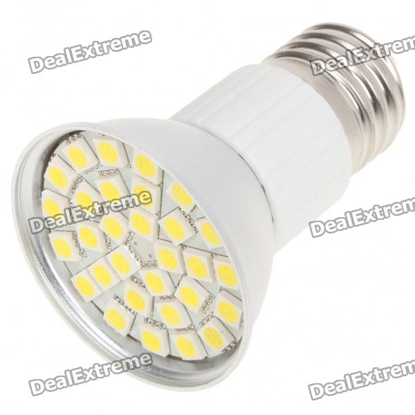 E27 5.5W 6500K 360-Lumen 30-5050 SMD LED White Light Bulb (AC 85~265V)