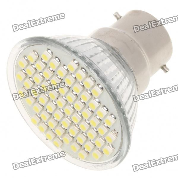 B22 4W 6500K 240-Lumen 60-3528 SMD LED White Light Bulb (AC 85~265V)