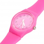 Decorative Waterproof Silicone Quartz Watch - Pink (1 x 377 Battery)