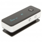 R5 Bluetooth V2.1+EDR Handsfree Stereo Headset - Black + Silver (4-Hour Talk/200-Hour Standby)