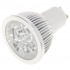 GU10 5W 5-LED Slots Aluminum Alloy Bulb Shell Case