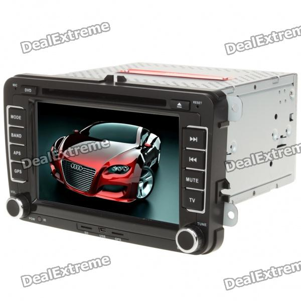 "7"" Touch Screen Car DVD Media Player w/ Win CE5.0 GPS/Bluetooth/FM/SD for Volkswagen (DC 10.5~14.4V)"