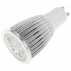 GU10 5W 5-LED Slots Aluminum Alloy Bulb Shell