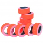 Price Labels for One-Line Price Tag Gun - Reddish Orange (10 Rolls)