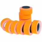 Price Label for One-Line Price Tag Gun - Orange (10 Rolls)