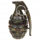 Stainless Steel Military Grenade Bomb Shaped Fuel Fluid Lighter with Sound Effect