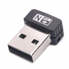 150Mbps 802.11n de alta velocidade USB 2.0 Wireless Network Adapter - Preto
