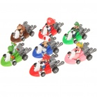 Cute Mini Super Mario Figures Pull-Back Cars Set (7-Pack)