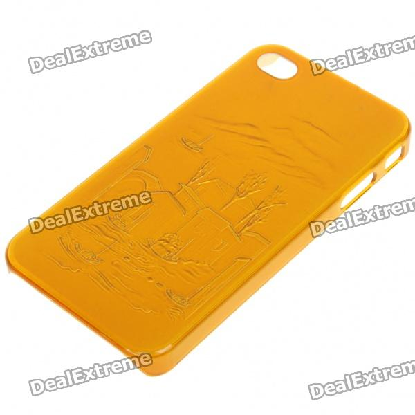 Protective Plastic Back Case for Iphone 4 - Golden (Random Chinese Landscape Painting Pattern) от DX.com INT
