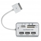 Multi-Function TF/M2/SD/MMC/MS/MS DUO Card Reader + 3-Port HUB for iPad/iPad 2