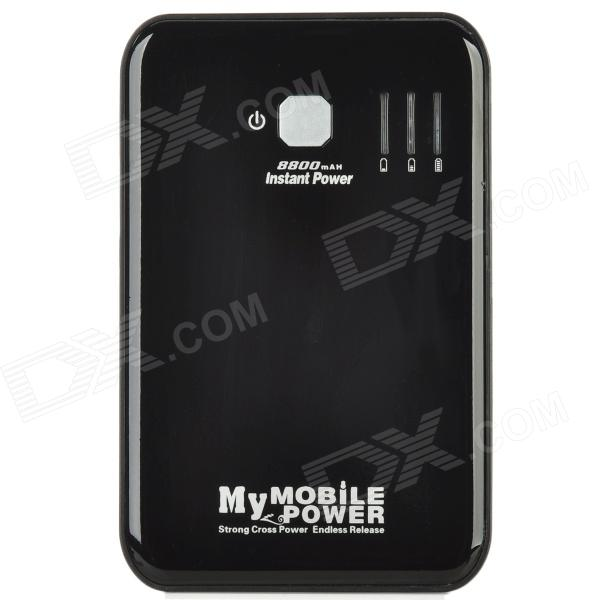 Compact 8800mAh Mobile Emergency Power Battery Charger with 10 Adapters for iPad/iPhone/Nokia/LG/PSP