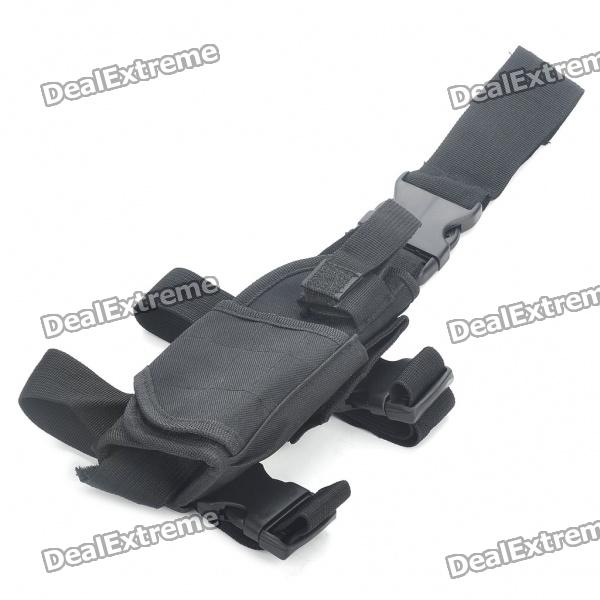 Military Outdoor War Game Gun Pistol Holster - Black