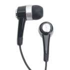 Compact In-Ear Earphone with Microphone for Samsung Galaxy S2/i9100/i9000/i9020 - Black (3.5MM Jack)