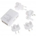 Universal-4-Port USB-Wechselstrom-Travel Adapter mit AUS / US / EU / UK Stecker-Adapter