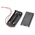 3V 2*AA Battery Holder Case Box with Leads - Black