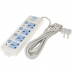 2500W 4-Outlet AC Electric Power Bar Strip w/ Individual Switch/LED Indicator (AC 250V/3m-Cord)