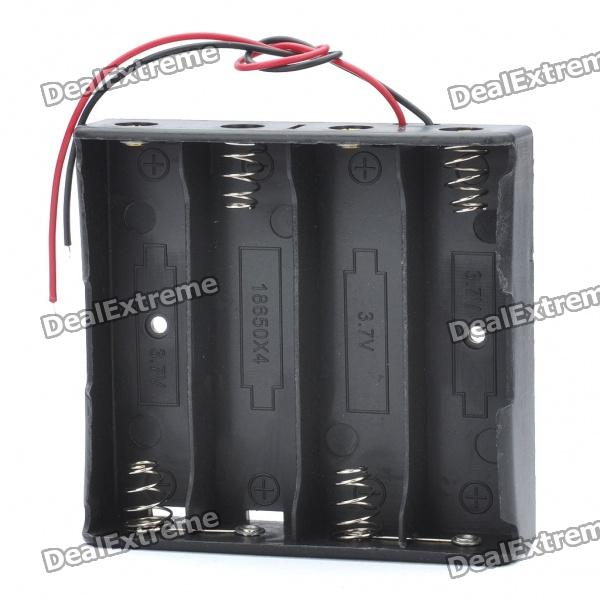 14.8V 4 x 18650 Battery Holder Case Box with Leads 100pcs18650 battery cell holder safety spacer radiating shell storage bracket mayitr suitable for 1x 18650 battery
