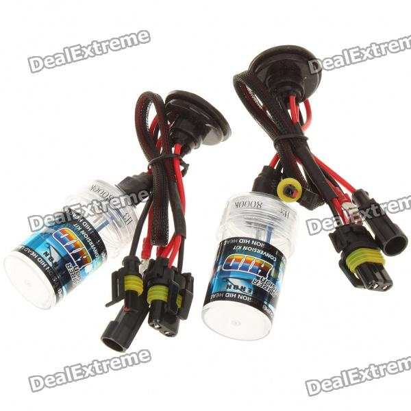 H3 36W 8000K 3300-Lumen Blue-White Light HID Headlamps (DC 12V/Pair)