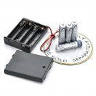 6V 4 x AAA Battery Holder Case Box with Leads