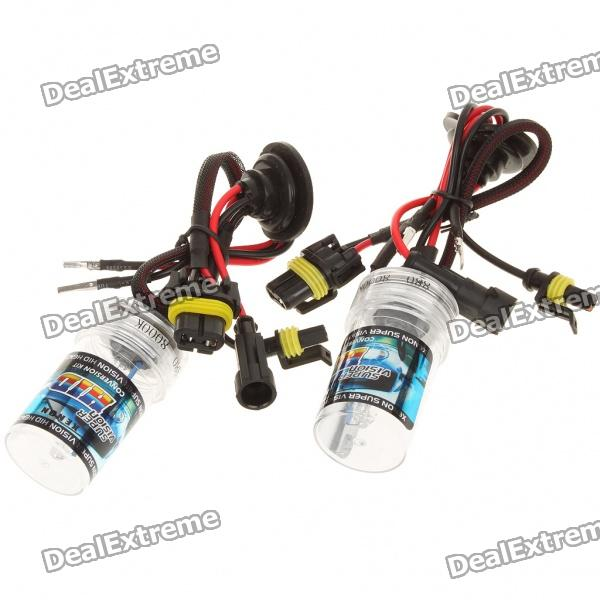 880 35W 8000K 3300-Lumen Blue-White Light HID Headlamps (DC 12V/Pair)