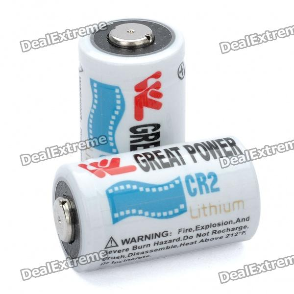 Non-Rechargeable 3.0V 700mAh CR2 Batteries (Pair)(SKU 103870)