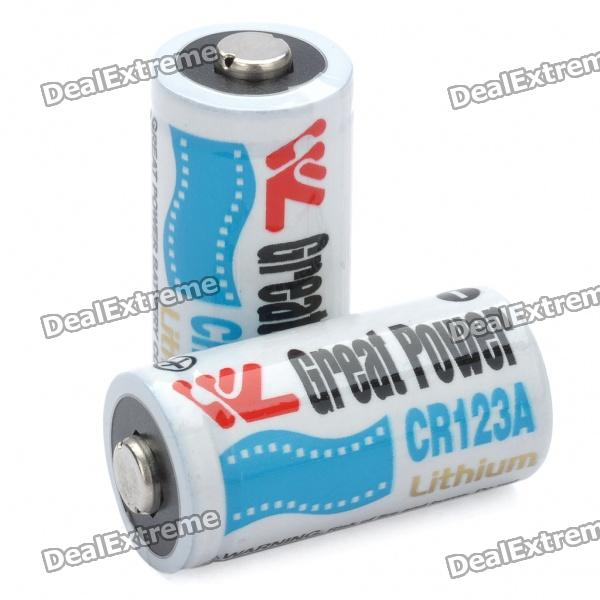Non-Rechargeable 3.0V 900mAh CR123A Battery (Pair) maxell er17 33 non rechargeable 3 5v 1600mah battery