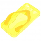 Flip-Flop Style Protective TPU Case for iPhone 4 - Translucent Yellow