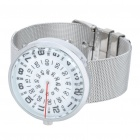 Stylish Steel Band Water Resistant Wrist Watch (1*377)