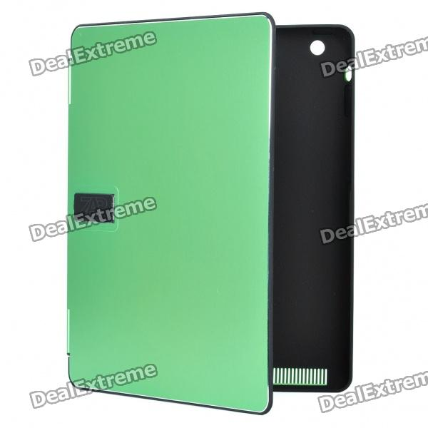 Stylish Protective Aluminum Alloy Cover Plastic Inner Full Case for Ipad 2 - Green