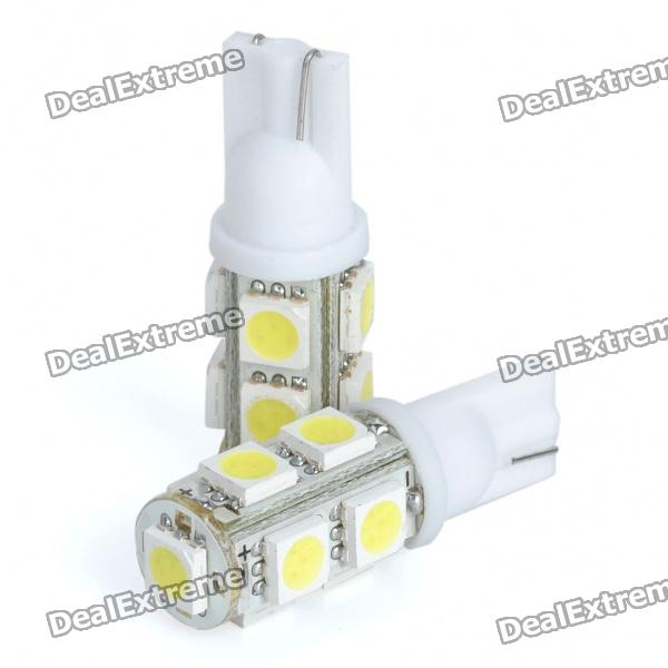T10 0.7W 6500K 58LM 9xSMD LED ampoules blanches pour voiture (Paire / 12V)