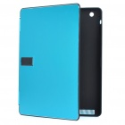 Stylish Protective Aluminum Alloy Cover Plastic Inner Full Case for Ipad 2 - Blue