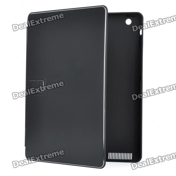 Stylish Protective Aluminum Alloy Cover Plastic Inner Full Case for Ipad 2 - Black